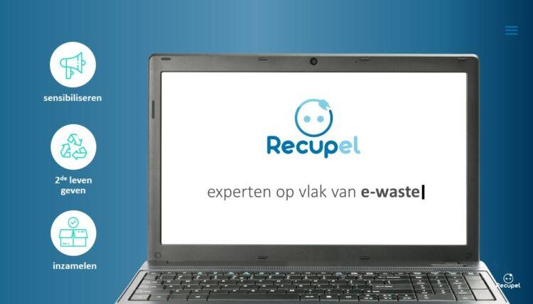PowerPoint slide uit bedrijfspresentatie van Recupel