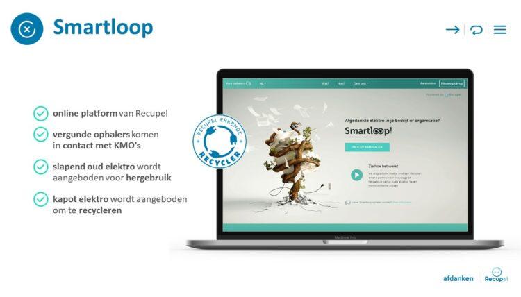 PowerPoint slide uit allesomvattende bedrijfspresentatie van Recupel