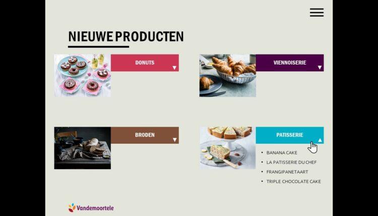 PowerPoint slide uit salesbook van Vandemoortele
