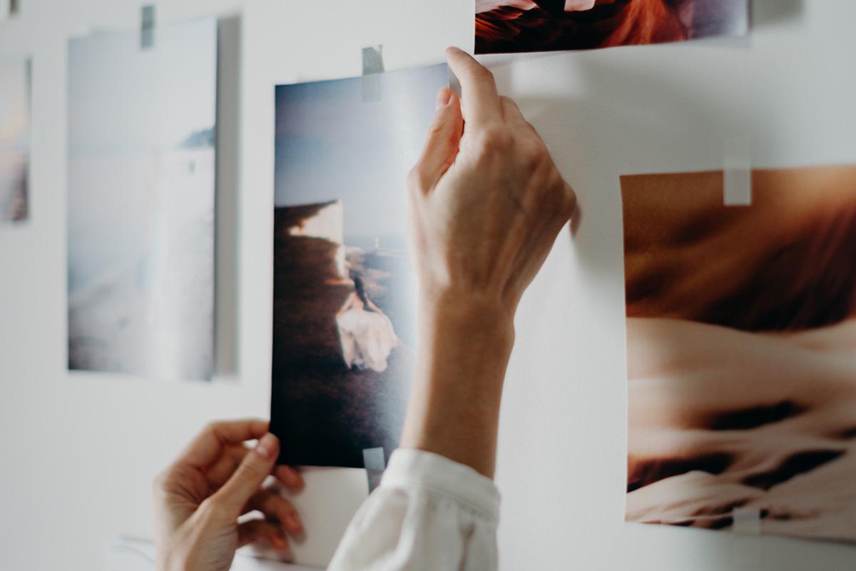 Selecteren van foto's voor pitch presentatie.