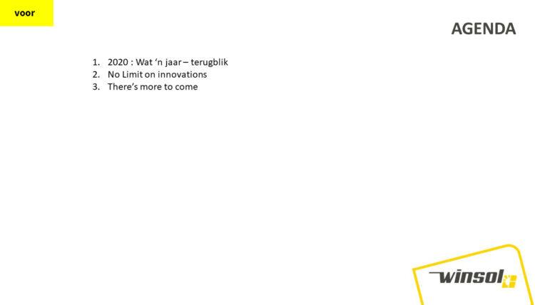 PowerPoint slide uit aangeleverde presentatie van Winsol