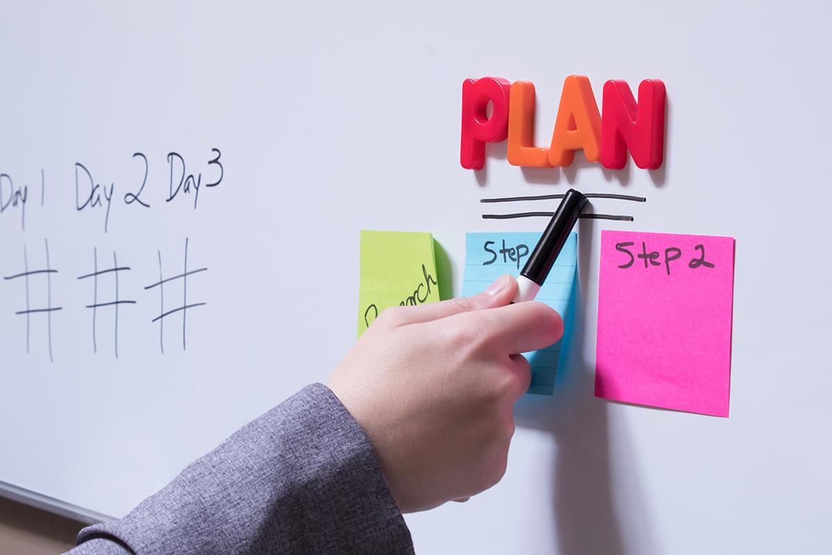 Plan van aanpak bij het ontwikkelen van e-learning.