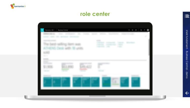 PowerPoint slide uit bedrijfspresentatie en verkooppresentatie voor Harmonize IT